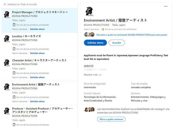 LinkedIn Kojima Productions