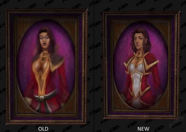 Cuadro de World of Warcraft antes y despu