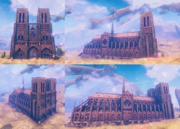 Los jugadores de Valheim construyen Notre Dame