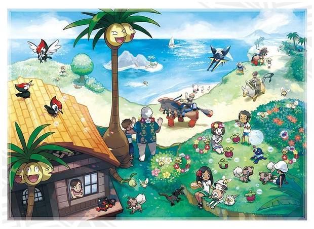 Humanos y Pokémon en Alola