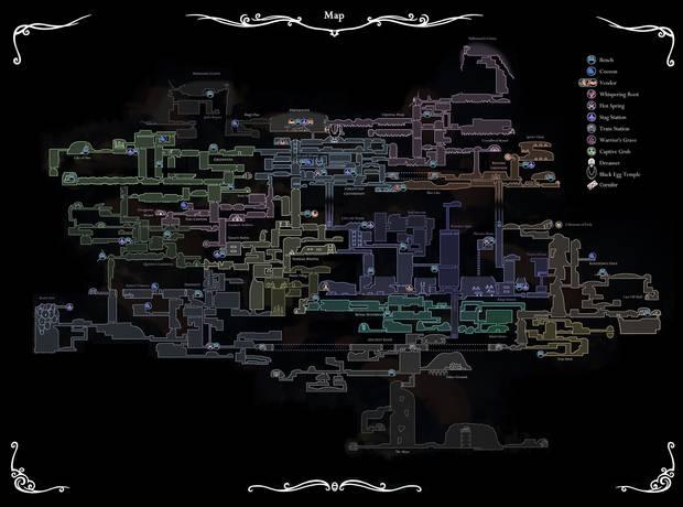 Mapa Hollow Knight