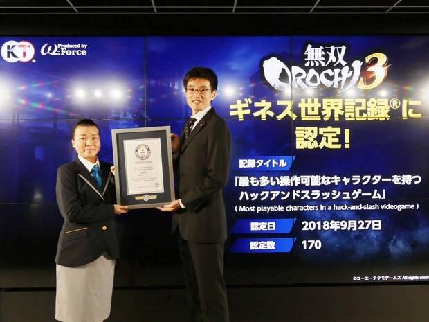 Warriors Orochi 4 es reconocido por el Libro Guinness de los Récords Imagen 2