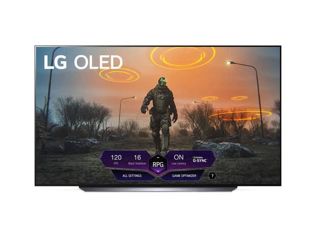 New gaming menu on LG TVs