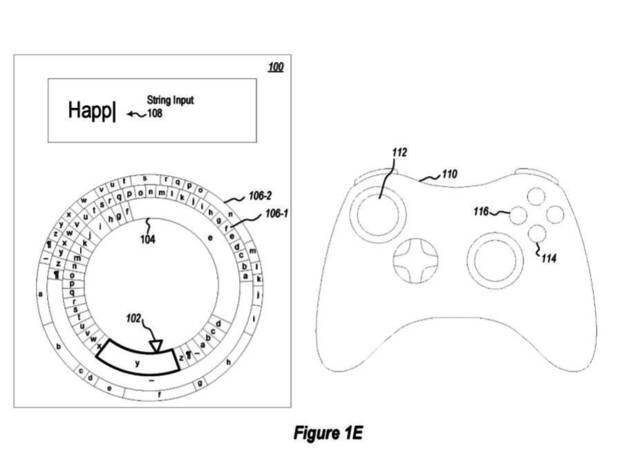 Microsoft patenta un teclado radial diseñado para usar con el mando Imagen 2