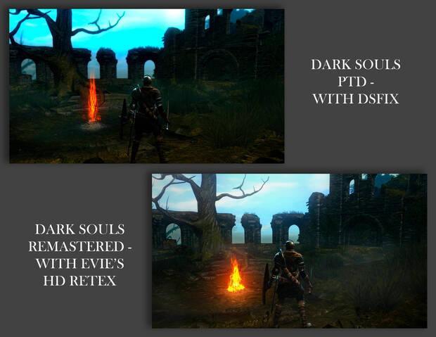 Dark Souls Remastered mejora sus gráficos con el mod Evie's Ultra HD Imagen 2