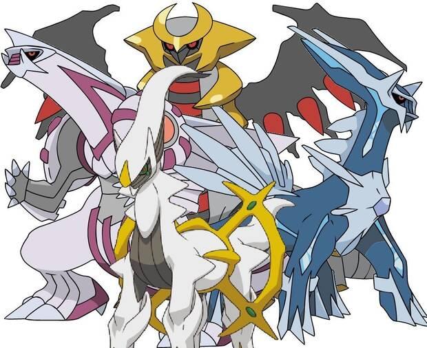 Pokémon GO - Cuarta generación: Dialga, Palkia, Giratina y Arceus