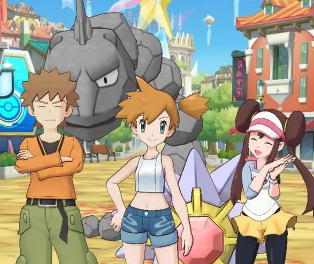 Pokémon Masters - Brock, Misty y Rosa