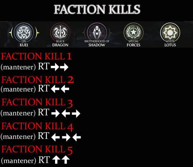 Facciones Mortal Kombat X Guia
