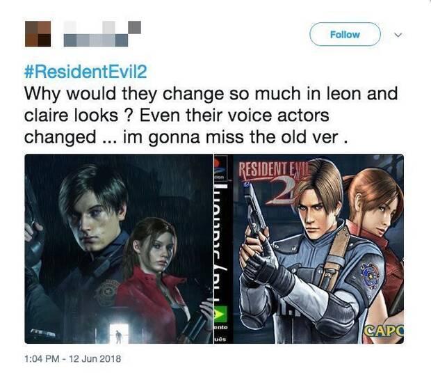 E3 2018: Quejas con los rostros de Leon y Claire del remake Resident Evil 2 Imagen 2