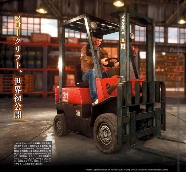 Una nueva imagen de Shenmue III muestra la carretilla elevadora Imagen 2