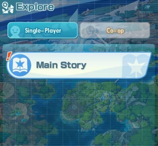 Pokémon Masters - Pantalla de selección de modo