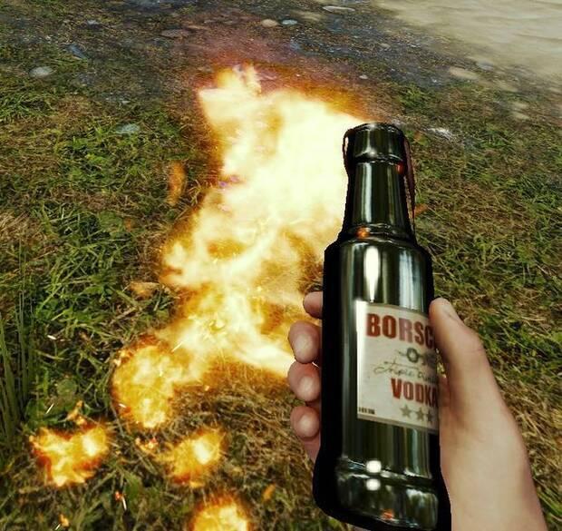 Cóctel molotov The Forest