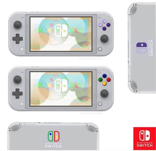 Nintendo Switch Lite: Imaginan varias versiones retro y de diferentes colores Imagen 2