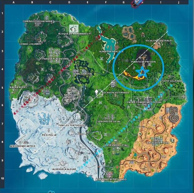 Fortnite Battle Royale - Fortbytes: localización del Fortbyte #92