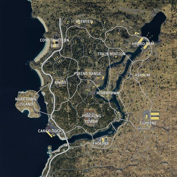 Call of Duty Black Ops 4: Mapa Blackout Battle Royale