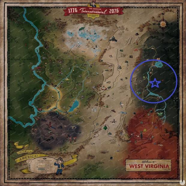 Fallout 76 - Vertedero abandonado: dónde unirse al Enclave