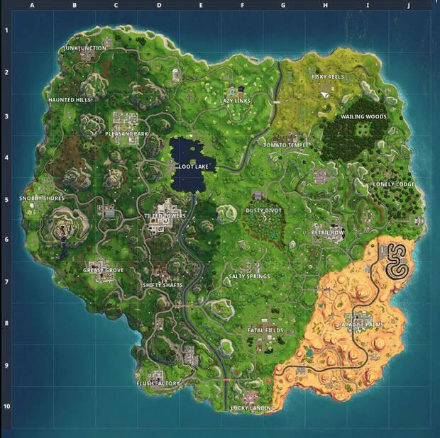 Fortnite Battle Royale - Mapa de la Temporada 5