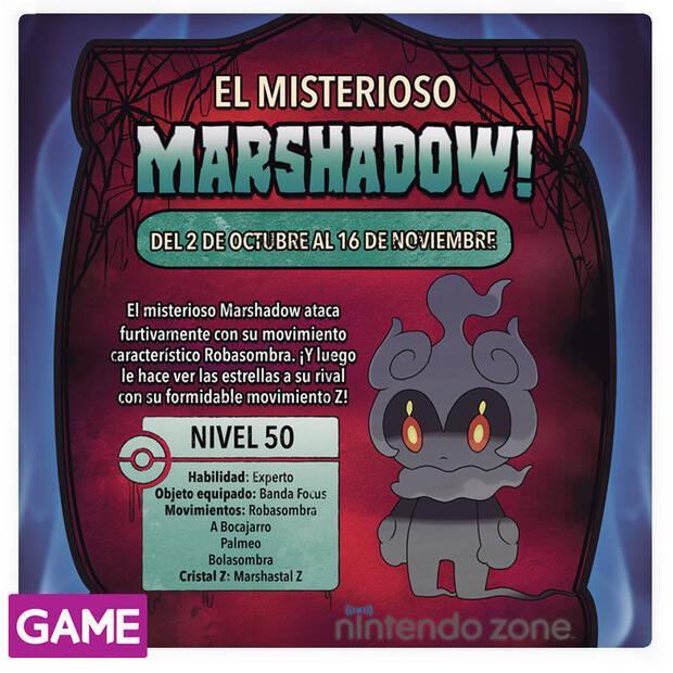 GAME distribuirá en su Nintendo Zone al Pokémon Marshadow de Sol y Luna Imagen 2