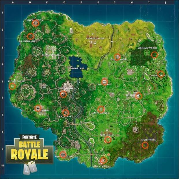 Fortnite Battle Royale, Gnomos, Desafío, Localización, Mapa