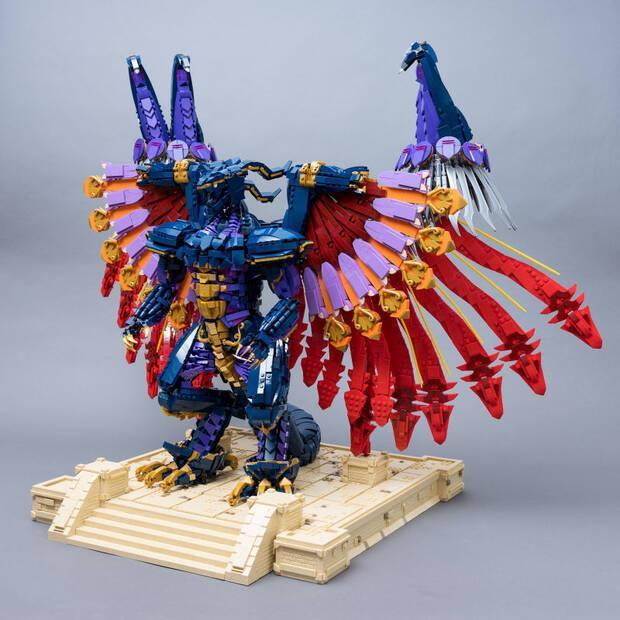 Construyen el Bahamut de Final Fantasy con 10.000 piezas de LEGO Imagen 4