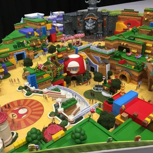 Se filtran imágenes de la maqueta del parque Super Nintendo World Imagen 2