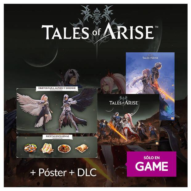 Tales of Arise and its content for reserving the game on GAME