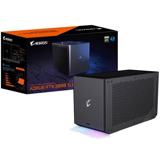 Caja de la Aorus Gaming Box RTX 3080 Ti