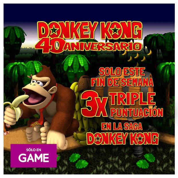 Get triple GAME points with Donkey Kong