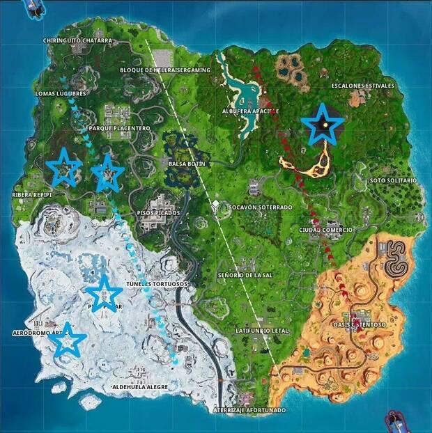 Fortnite Battle Royale - Visita los 5 puntos más altos de la isla
