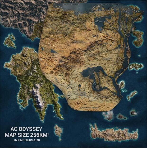 El mapa de Assassin's Creed Odyssey es casi 3 veces mas grande que en Origins Imagen 2
