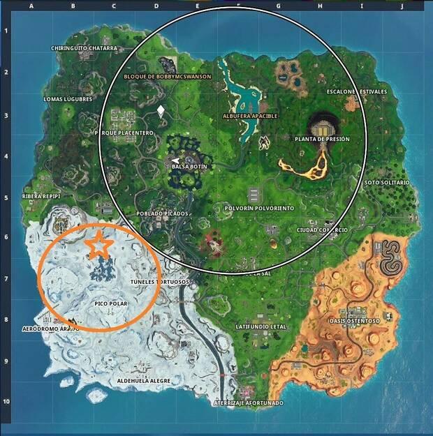 Fortnite - Zona donde encontrar dos cofres juntos