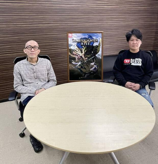 Yasunori Ichinose, director de Monster Hunter Rise, y Ryozo Tsujimoto, productor de la saga Monster Hunter.
