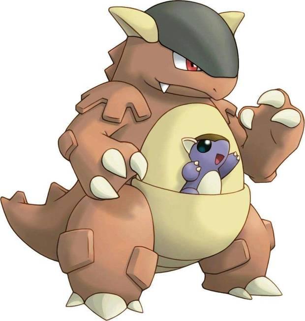 Kangaskhan en Pokémon Let's Go