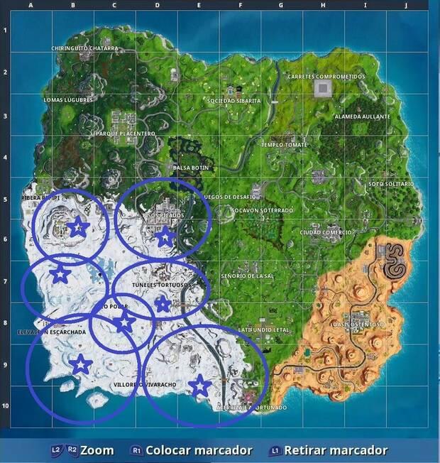 Fortnite Battle Royale - Localización de Gnomos congelados