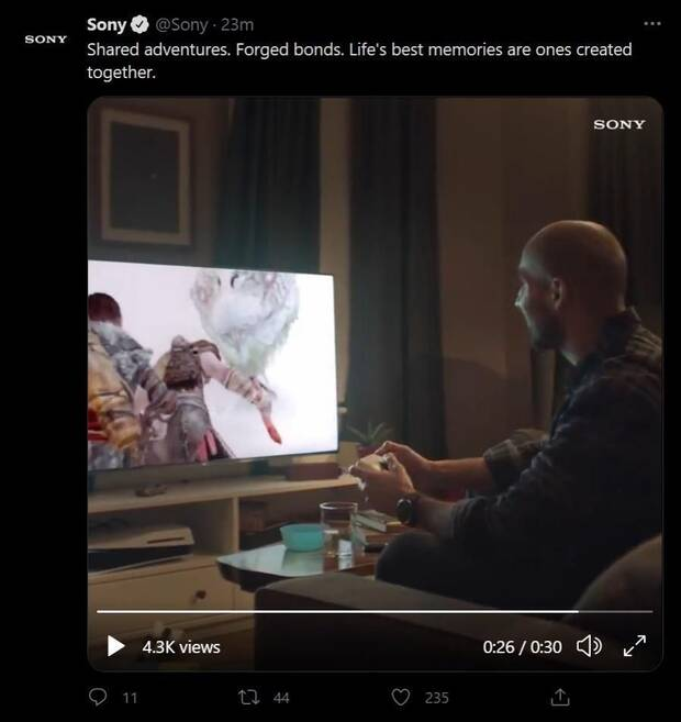 PS5 misplaced in Sony ad