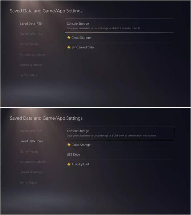 PS5 no permite extraer los datos de guardado, excepto si tienes PS Plus Imagen 2