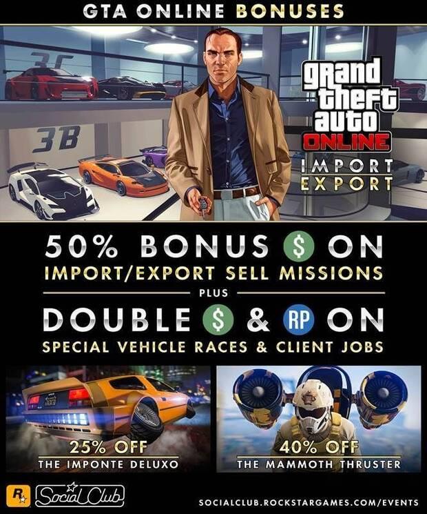GTA Online: Bonificaciones, con vehículos especiales y más Imagen 2
