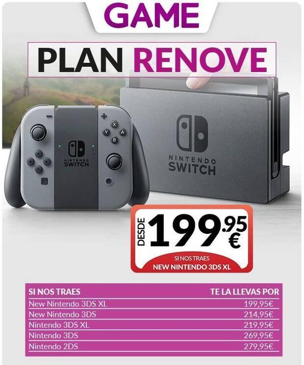 Game presenta su Plan Renove para Nintendo Switch Imagen 2