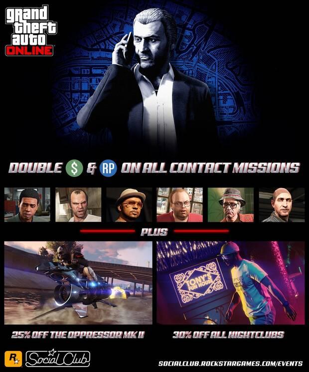 GTA Online: Doble de GTA$ y de RP en todas las misiones de contacto Imagen 2