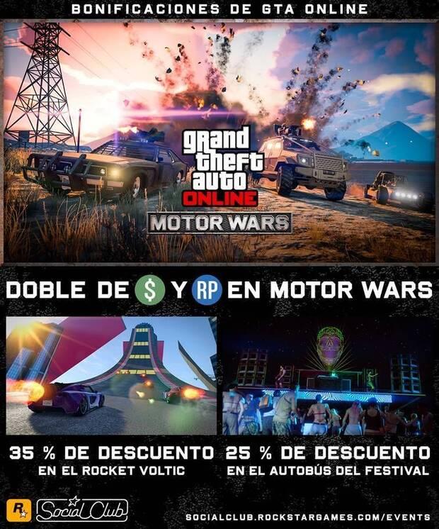 GTA Online: Bonificaciones y recompensas Dobles en Motor Wars Imagen 2