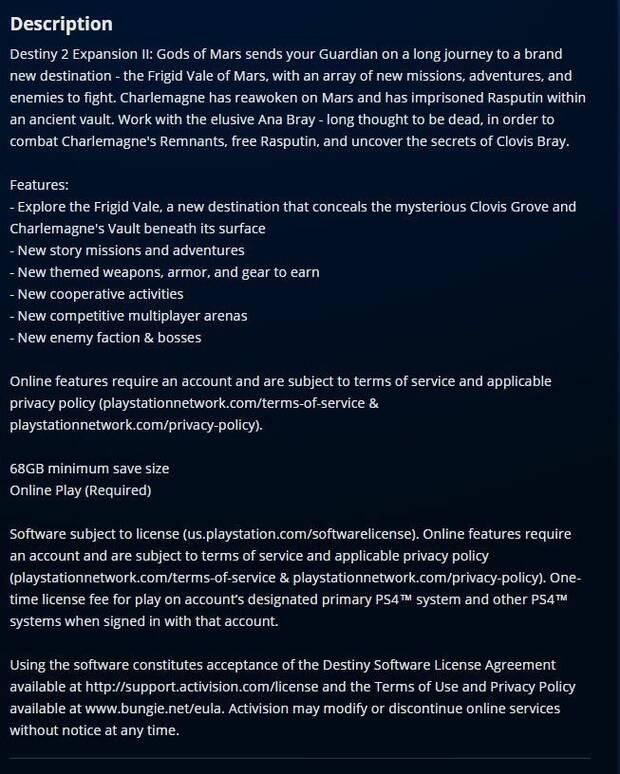 La próxima expansión de Destiny 2 llegará en marzo, según una filtración Imagen 3