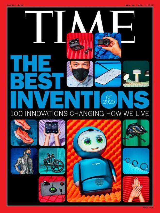 Time cover with the best inventions of 2020