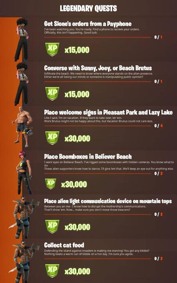 Fortnite Battle Royale - Legendary Missions Week 3