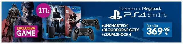 GAME presenta dos packs exclusivos de PlayStation 4 más juegos