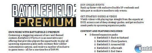 Battlefield 3 - Premium se lanzará la semana que viene y costará 49,99 €