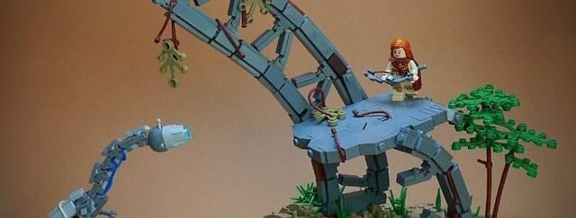 Un fan recrea una escena de Horizon: Zero Dawn en LEGO