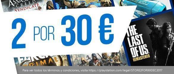 Empieza la promoción de 2 juegos por 30 euros en la PlayStation Store