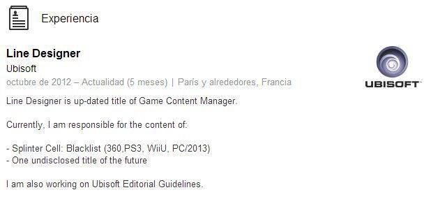 Más rumores sobre Splinter Cell Blacklist en Wii U