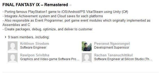 La revisión de Final Fantasy IX llegaría a PS Vita, según un currículum