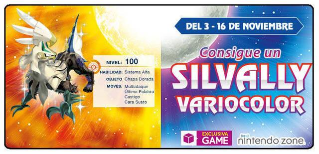 Silvally Variocolor ya está disponible en las Nintendo Zone de GAME